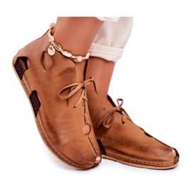 Maciejka Rude sapatos baixos para mulher 03426-19 marrom