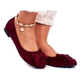 SEA Sapatos de bailarina para senhora Jordos vermelho