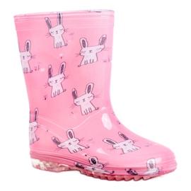 Botas de chuva de borracha para crianças. Coelhinho Rosa