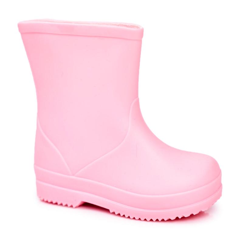 Galochas clássicas de borracha rosa com canção de ninar infantil