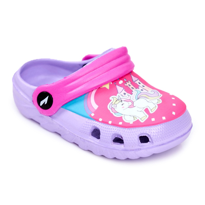 Chinelos infantis Espuma Crocs Pôneis Violeta roxo