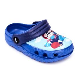 Chinelos infantis Espuma Crocs Ursinho Azul Piloto SuperFly