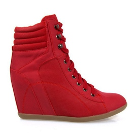Sapatilhas Boots On Wedge 562 Vermelho