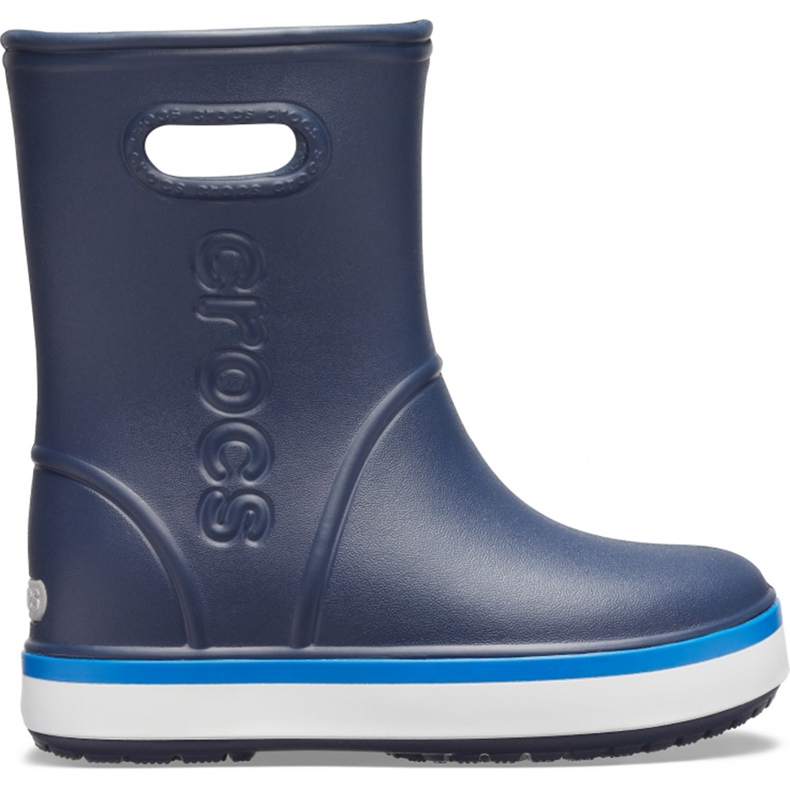 Botas de chuva Crocs para crianças Bota de chuva Crocband Kids azul marinho 205827 4KB