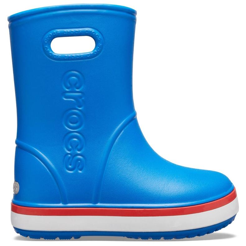 Botas de chuva Crocs para crianças Bota de chuva Crocband Kids azul 205827 4KD