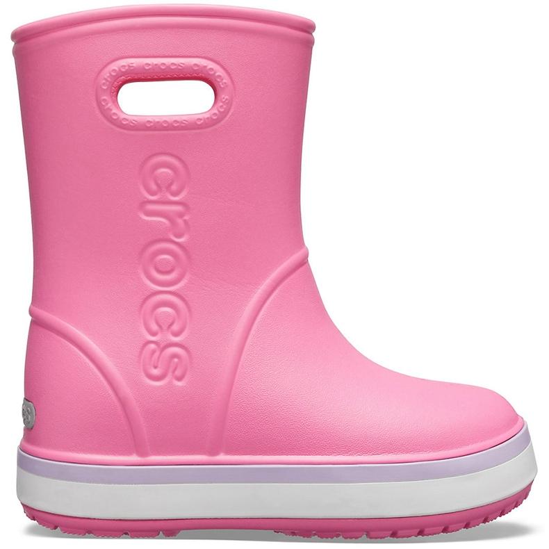Botas de chuva Crocs para crianças Bota de chuva Crocband Kids rosa 205827 6QM
