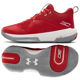 Under Armour Gs Sc 3Zero Iv Boys Jr 3023918-600 tênis de basquete multicolorido vermelho