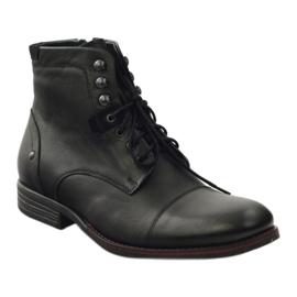 Botas de inverno com Pilpol 6009 zip black preto 1