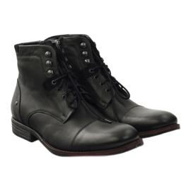 Botas de inverno com Pilpol 6009 zip black preto 4