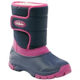 American Club Botas de inverno botas americanas super leves azul marinho rosa 1