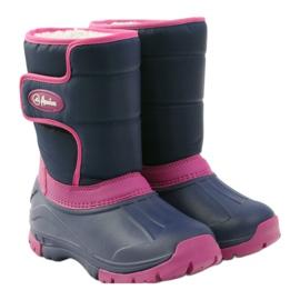 American Club Botas de inverno botas americanas super leves azul marinho rosa 4