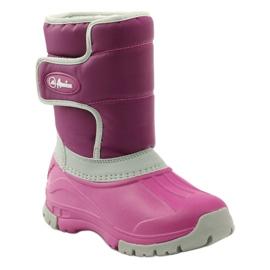 American Club Botas de inverno botas americanas superleves rosa cinza 1