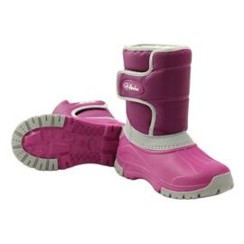 American Club Botas de inverno botas americanas superleves rosa cinza 3