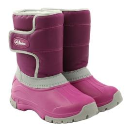 American Club Botas de inverno botas americanas superleves rosa cinza 4