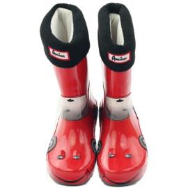 American Club Wellington boots meia mais inserção de CARRO VERMELHO cinza preto 4