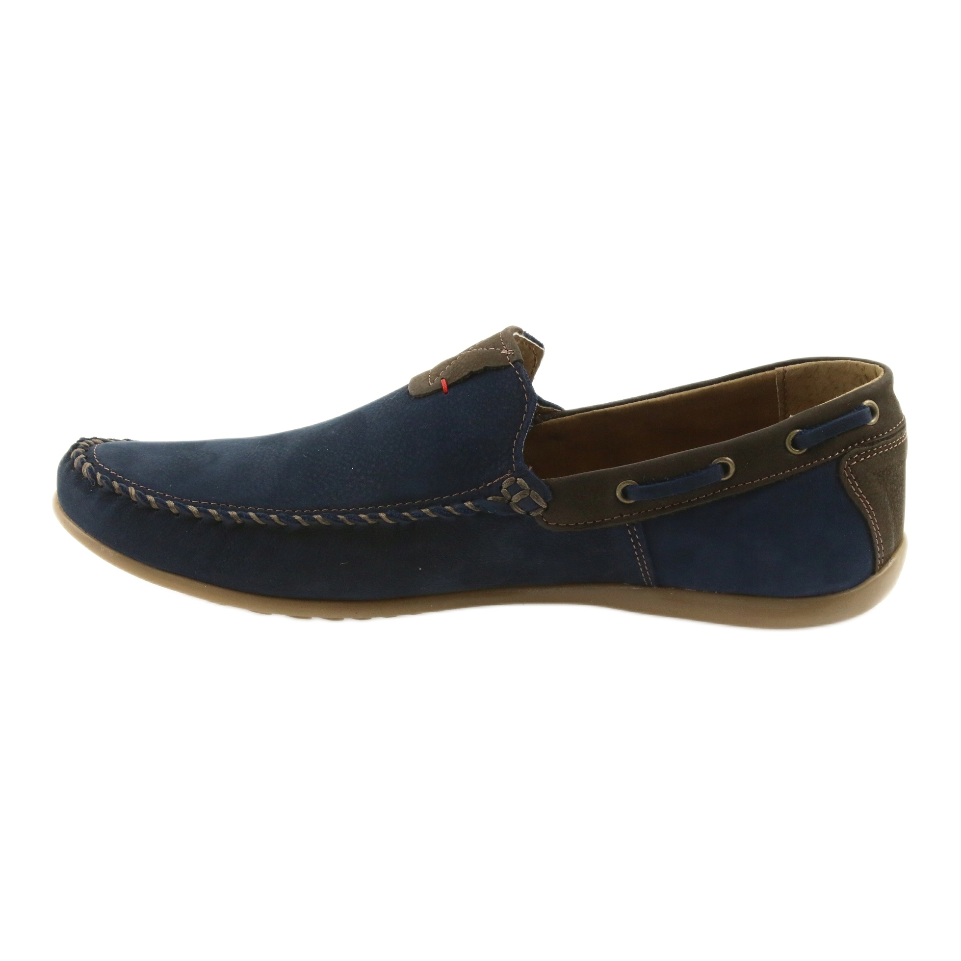 Riko mocassim sapatos homens azul 781 ButyModne.pl