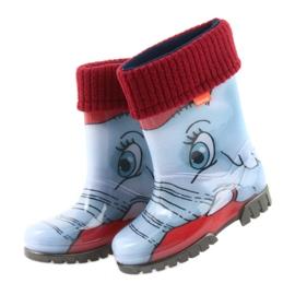 Botas infantis de Demar com uma meia azul cinza vermelho 4