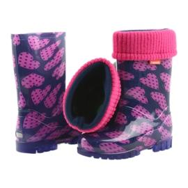 As botas de chuva infantil Demar aquecem os corações de meia rosa azul marinho 5