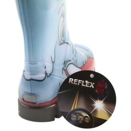 Botas infantis Demar, botas de chuva com meia quente preto vermelho azul cinza 5