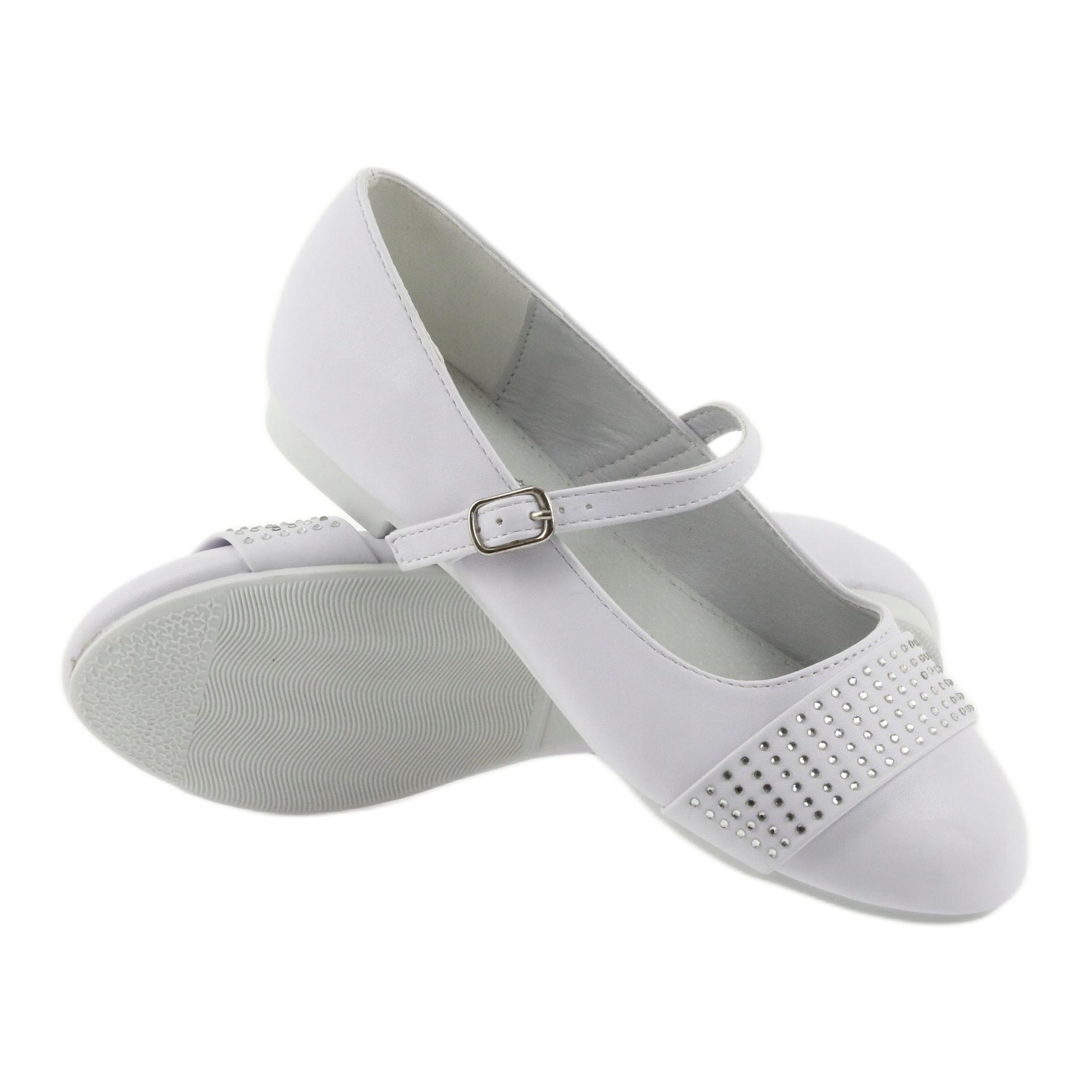 Bombas de sapatos para crianças Comunhão Bailarinas de
