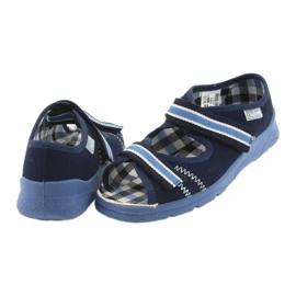 Sandálias sapatos infantis Velcro Befado 969x101 azul marinho 5