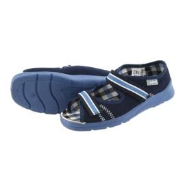 Sandálias sapatos infantis Velcro Befado 969x101 azul marinho 4