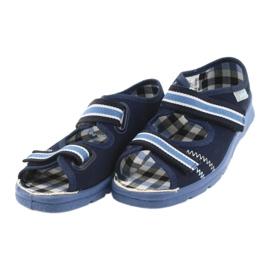 Sandálias sapatos infantis Velcro Befado 969x101 azul marinho 3