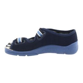 Sandálias sapatos infantis Velcro Befado 969x101 azul marinho 2