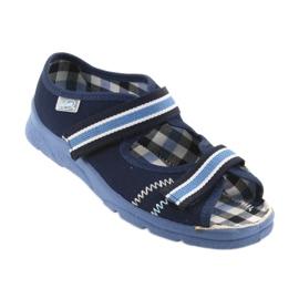 Sandálias sapatos infantis Velcro Befado 969x101 azul marinho 1
