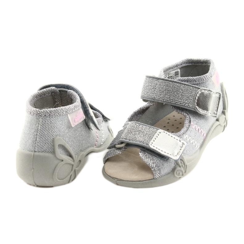 Cinza Calçado infantil Befado 342P002 prateado retrato 4