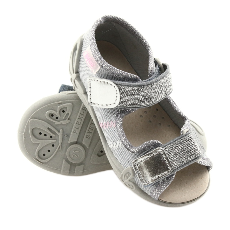 Cinza Calçado infantil Befado 342P002 prateado retrato 3