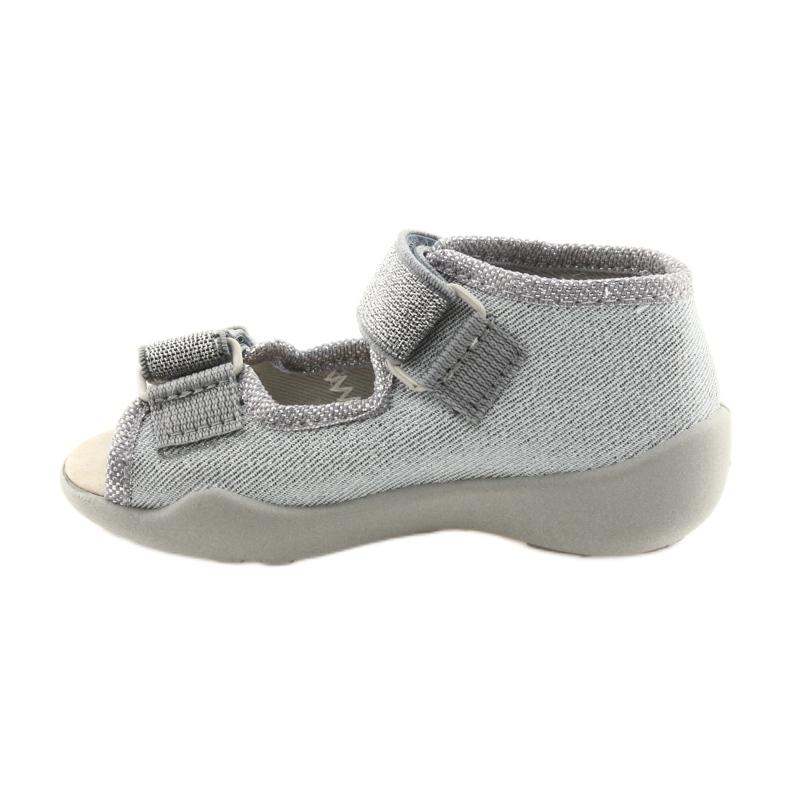 Cinza Calçado infantil Befado 342P002 prateado retrato 2