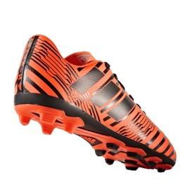 Chuteiras de futebol adidas Nemeziz 17.4 FxG Jr S82460 laranja laranja 1