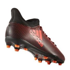 Sapatos de futebol adidas X 17.3 Fg Jr S82368 preto, vermelho vermelho 1