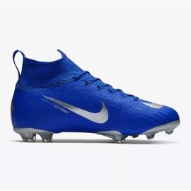 Sapatos de futebol Nike Mercurial Superfly 6 Elite Fg Jr AH7340-400 azul azul 1