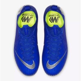 Sapatos de futebol Nike Mercurial Superfly 6 Elite Fg Jr AH7340-400 azul azul 2