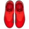 Sapatos de futebol Nike Phantom Vsn Academia Df Tf Jr AO3292-600 vermelho vermelho 2