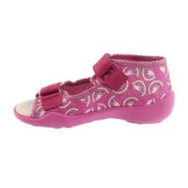 Calçado infantil amarelo Befado 342P004 -de-rosa 3