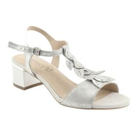 Sandálias confortáveis em prata Caprice cinza 1