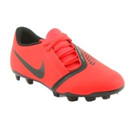 Nike Phantom Venom Clube Fg Jr AO0396-600 sapatos de futebol vermelho 1