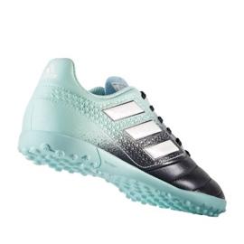 Chuteiras de futebol adidas Ace 17.4 Tf Jr S77121 preto, azul azul 1