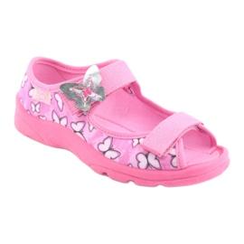 Sapatos infantis Befado 969X134 -de-rosa 2
