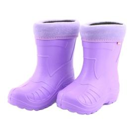 Sapatos infantis Befado galosh-violeta 162P102 roxo 4