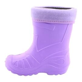Sapatos infantis Befado galosh-violeta 162P102 roxo 3