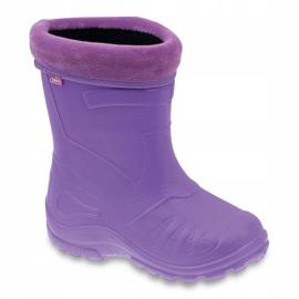 Sapatos infantis Befado galosh-violeta 162P102 roxo 1