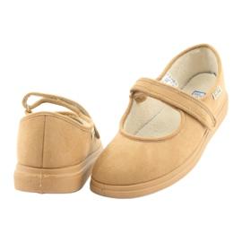 Sapatos femininos Befado pu 462D003 marrom 5