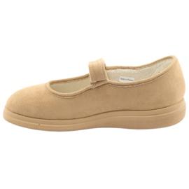 Sapatos femininos Befado pu 462D003 marrom 3