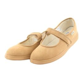 Sapatos femininos Befado pu 462D003 marrom 4