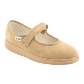 Sapatos femininos Befado pu 462D003 marrom 2