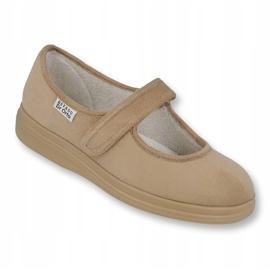 Sapatos femininos Befado pu 462D003 marrom 1